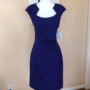 NWT Calvin Klein ruched cap sleeve dress